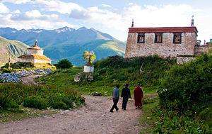 Reting Monastery - Reting Monastery in 2009