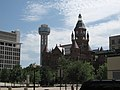 Reunion Tower and Old Red Courthouse.jpg