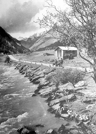 Rheinwald - Rheinwald near Splügen, around 1920