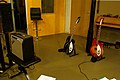 Rickenbacker 360-12 Jetglo (black), 360-6 Fireglo (red), Fender Vibro-Champ vintage tube amp 1968, Marc Morgan album recording, LowSwing studio, Berlin, 2011-01-25 22 30 45.jpg