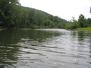 Juniata River - Juniata River in Riddlesburg, PA