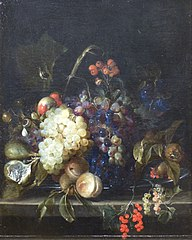 Still Life of Fruit on a Marble Table