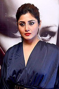 Rimi Sen walks the ramp for Rocky S at the IBFW on day 2 in Goa (09) (cropped).jpg
