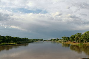 Middle Rio Grande Conservancy District - Rio Grande at Isleta in June 2007