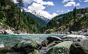 The Swat River flows through the Swat District