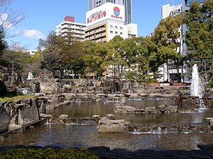 Hisaya Ōdori Park - Waterfalls at the Hisaya Ōdori Park