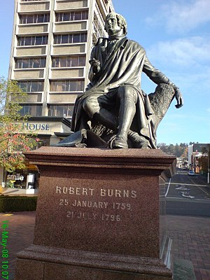 Robert Burns (Steell) - The Dunedin statue