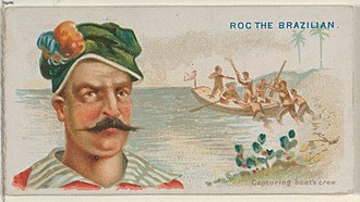 Roche Braziliano - Image: Roc the Brazilian, Capturing Boat's Crew, from the Pirates of the Spanish Main series (N19) for Allen & Ginter Cigarettes MET DP835018