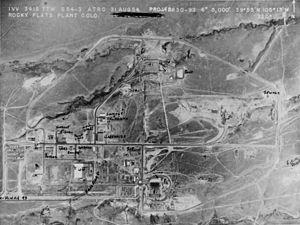 Pondcrete - Rocky Flats Plant - Aerial View 002