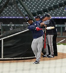 Acuna Jr. taking batting practice at Coors Field