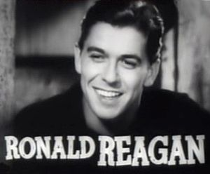 "Ronald Reagan in the trailer for ""Cowboy ..."