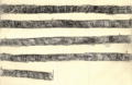 Rongorongo rubbing of line 1 of Santiago staff.png