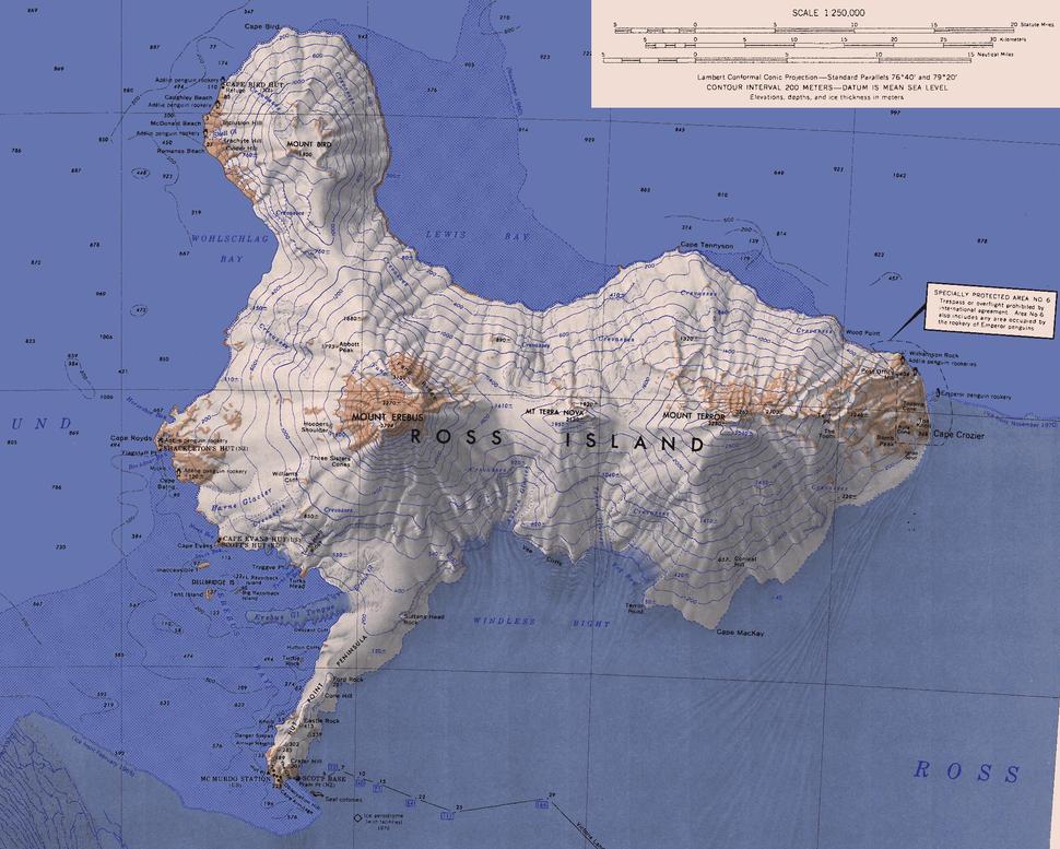 Ross Island Map USGS 250k