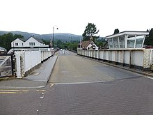 Swing bridge at Fort Augustus, from the A82