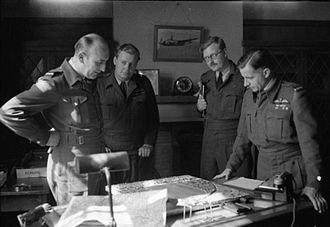 David Atcherley - Air Vice Marshal Basil Embry (right) and his staff, c.1944. Atcherley is at left.