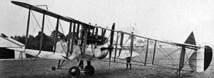 Royal Aircraft Factory F.E.2 - Rolls-Royce Eagle powered F.E.2d with nose-wheel