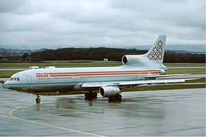 Royal Jordanian - Lockheed L-1011 TriStar of Alia in the short-lived, experimental early-1980s livery