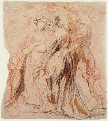 Rubens Study of three women