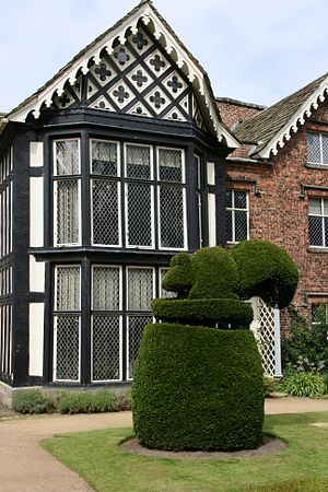 Topiary - Squirrel topiary, Rufford Old Hall, Rufford, Lancashire, England.