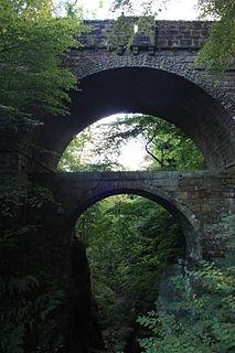 Rumbling Bridge village in Perth and Kinross, Scotland, UK