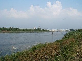 Rupel small river in Belgium
