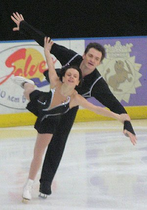 Maria Petrova (figure skater) - Petrova and Tikhonov perform a pair spiral at the 2005 Russian Nationals