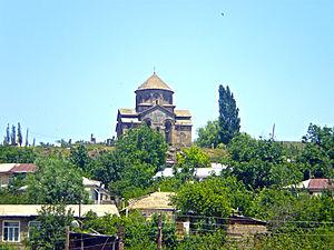 Sisian - The 7th-century Saint Gregory church overlooking Sisian