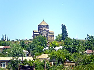 Sisian - The 7th-century Saint Gregory church overlooking Sisian