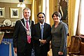 S. D. Shibulal, CEO, Infosys, with the Lord Mayor and Minister Arlene Foster, at the 2013 Horasis Global India Business Meeting (9163523833).jpg
