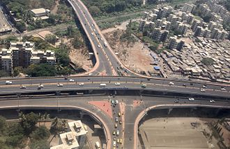Kurla - Double decker flyover on the Santacruz Chembur Link in Kurla (East)