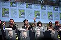 SDCC 2015 - Andrew Lincoln, Steven Yeun, Chandler Riggs, Danai Gurira & Michael Cudlitz (19669830745).jpg