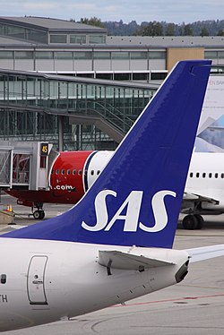 An SAS aircraft tailfin Image: Aeroprints.com via Flickr.
