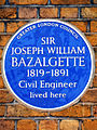 SIR JOSEPH WILLIAM BAZALGETTE 1819-1891 Civil Engineer lived here.jpg