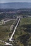 Der längste Linearbeschleuniger der Welt (3 km) am SLAC in Kalifornien