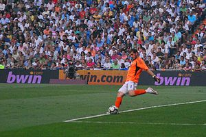 Iker Casillas - Casillas in action for Real Madrid at the Santiago Bernabéu in 2009