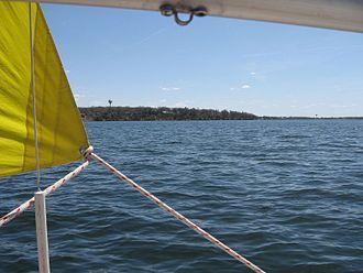 West Okoboji Lake - Image: Sailing West Lake Okoboji IA (476317210)