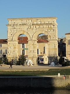 Arch of Germanicus Ancient Roman arch in Saintes, Charente-Maritime, France