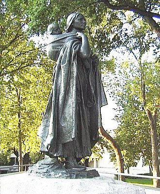 Lewis and Clark Expedition - Statue of Sacagawea, a Shoshone woman who accompanied the Lewis and Clark Expedition