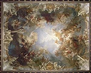 Salon d'Hercule - Image: Salon d'Hercule plafond