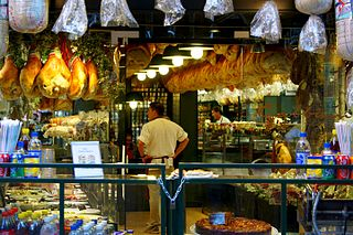 shop specialising in cured meat