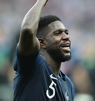 Samuel Umtiti - Umtiti with France at the 2018 FIFA World Cup Final