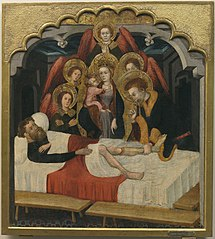 Saint Hippolyte cures the Leg of the Oxherd Peter
