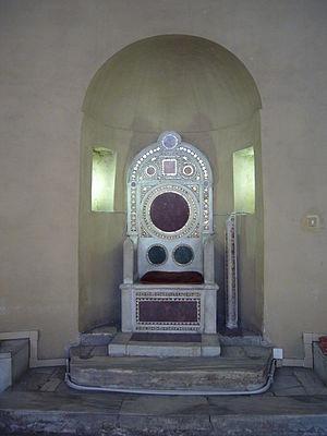 Santa Balbina - Image: San Saba santa Balbina cattedra cosmatesca 1000906