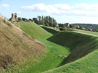 Sandal Castle - The motte at Sandal Castle.