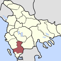 Location of Sanjak of Janina