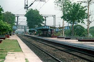 Sankrail - The Sankrail railway station in 2002.