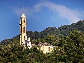 La eklezio de Saint-André, en Sant'Andréa-di-Bozio