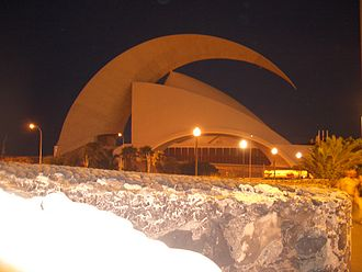 Earth Hour - Auditorio de Tenerife darkened for Earth Hour