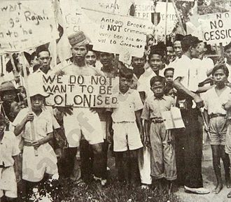 Sarawak Independence Day - Sarawakian citizens protested against the transforming of the Kingdom of Sarawak into a Crown colony.