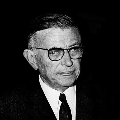 Jean-Paul Sartre, French existentialist philosopher, playwright, novelist, screenwriter, political activist, biographer, and literary critic